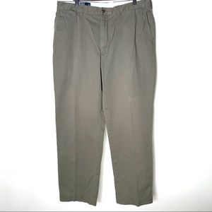 Ralph Lauren Polo flat front olive colored khakis